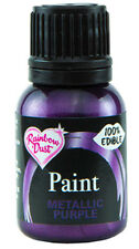 Rainbow Dust Metallic Edible Food Paint Many Colours 25ml- Cake Craft Decorating