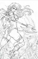 🚨🗡🔥 RED SONJA #19 DAWN MCTEIGUE Exclusive Virgin PENCILS Variant Ltd 500 NM