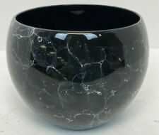 "Black Marbled Design Vase Planter 8x7"" B37"