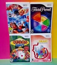 Wipeout Trivial Pursuit Think Smart Vegas Party - Nintendo Wii / Wii U Game Lot