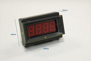 Voltmètre LED de tableau 3 1/2 digits Velleman, encastrable, Neuf.
