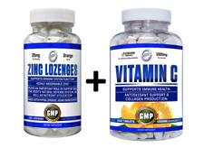 Liposomal Vitamin C 1000mg + Zinc Lozenges 25mg 100 Days Supply IMMUNITY STACK