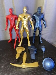 Mattel DC Universe Classics DCUC Gold, Iron, and Tin Metal Men Action Figure Lot
