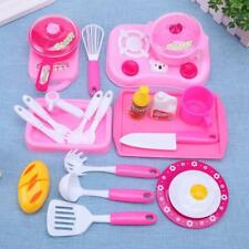 Kids Children Pretend Role Play Toys Mini Chef Kitchen Utensils Food Cooking Set