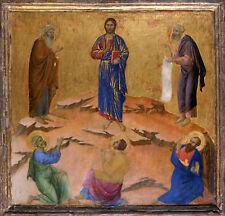La PITTURA Duccio Siena CATTEDRALE ALTARE TENTAZIONE DI CRISTO Poster Art Print LLF0252