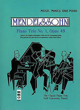 MENDELSSOHN - PIANO TRIO NO 1 OP 49 PIANO BK/CD