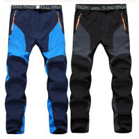 Mens Hiking Pants Outdoor Camping Windproof Climbing Outdoor Fleece Trousers
