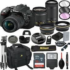 Nikon D5300 DSLR Camera with 18-55mm VR & 70-300mm VR Lenses + 32GB Card BUNDLE