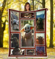 Baby Yoda Blanket, Star Wars Blanket - Baby Yoda Quilt, Fleece Blanket