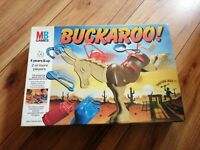BUCKAROO 1993.VINTAGE MB GAMES.GOOD COMPLETE CONDITION FUN OLD GAME FREEPOST