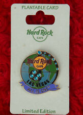 Flower Seed in card! Hard Rock Cafe pin Gemstone GLOBE SAVE THE PLANET LAS VEGAS