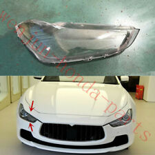Right Side Headlight Cover Clear PC + Glue replace For Maserati Ghibli 2014~19