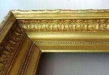 grand Cadre 19ème en bois et stuc doré  57 cm par 66 cm