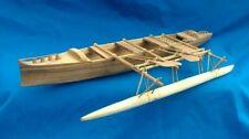 Tokelau Island Outrigger Canoe Model