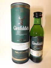 Whisky 12 Years Glenfiddich Signature 5 cl 40% mini flasche bottle miniature