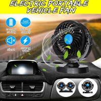 12V Portable Car Fan Dual/Single Head Cooling Cooler Fan For Car Van Caravans a