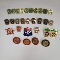 Vintage Little League Baseball Official Lapel Pin Lot Of 29, Used