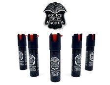 5 PACK Police Magnum pepper spray 3/4oz Safety Lock Defense Security Protection