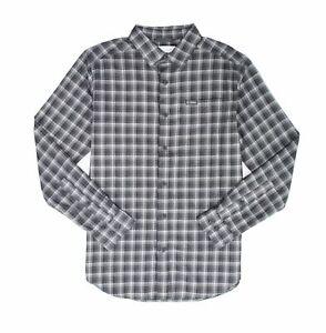 Columbia Mens Shirt Gray Size Medium M Plaid Vapor Ridge Button Up $50 #126