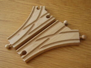 2  Points / Junction  for Wooden Train Track Set ( fits Brio Thomas )     JN25