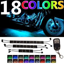 MILLION COLOR LED MOTORCYCLE UNDER GLOW LIGHT KIT w KEYCHAIN REMOTE CONTROL