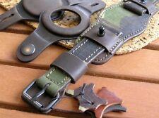 20mm MILITARY WATCH STRAP trench bund watch band GENUINE LEATHER CUFF BRACELET