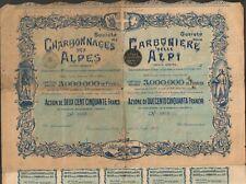DECO => CHARBONNAGES DES ALPES (SUISSE) (A)