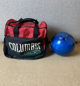 AMF Blue Bowling Ball 6.7kG With Columbia 300 Carry Bag Made In The USA
