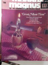 Magnus 12-16 Chord Organ Music book #22