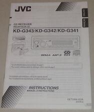 Betriebsanleitung JVC Autoradio KD-G343 / KD-G342 / KD-G341 von 2007