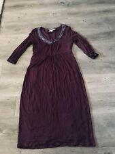 Boden Women's Wine Dress 3/4 Sleeve Empire Waist SZ 6