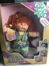 VINTAGE CABBAGE PATCH KID HAPPY BIRTHDAY KIDS 1990 RED HEAD GIRL NRFB