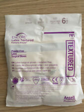 Ansell 5785002 Encore Latex Textured Powder-Free Gloves Size 6.5 10/Pack