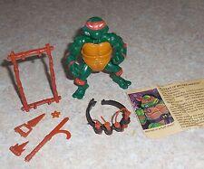 TMNT Michelangelo Teenaged Mutant Ninja Turtle Figure 1988 w/bio