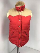 ROXY Vintage 90s Corduroy Red Brown Reversible Vest Jacket Coat Bomber Size L