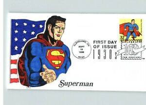 "SUPERMAN, Hand Painted, Celebrate the Century 1930s ""Superman Arrives"" FDC"