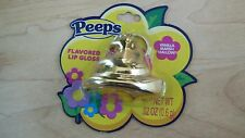 PEEPS Lip Gloss Balm Gold Chick Keychain Flavored Vanilla Marshmallow Easter