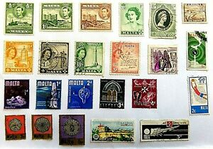 COLLECTION OF MALTA POSTAGE STAMPS