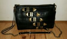Rebecca Minkoff black chain crossbody buckles funky moto EXCELLENT purse bag