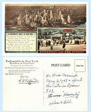 Toffenetti Restaurant Broadway & 43rd Street New York City c1947 Postcard