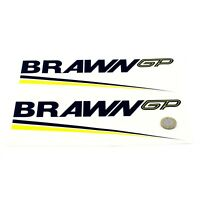 Brawn GP STICKER Decal F1 Vinyl 250mm x2