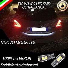 COPPIA LUCI TARGA 9 LED PEUGEOT 208 T10 W5W CANBUS NUOVO MODELLO NO ERROR