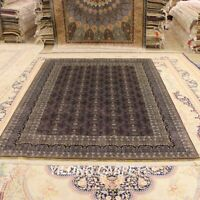 Yilong 6'x8.5' Handwoven Silk Carpet Purple All-Over Home Furniture Rug 0250