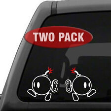 Mario Bros Bob Omb Bomb - 2 Pack, 2 Color - Vinyl Decal Sticker Car Window