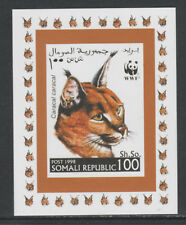 Somalia 5732 - 1998 WWF - CARACAL LYNX #1  imperf deluxe sheet unmounted mint