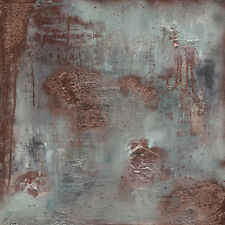 Soozy Barker - Copper & Coal - Ready Framed Canvas 60x60cm