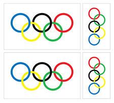 4 X Anillas Olímpicos Vinilo Coche Furgoneta iPad Laptop Pegatina británico