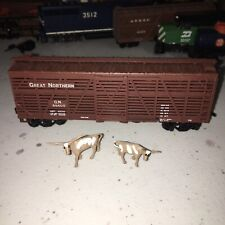 HO scale Athearn Great Northern cattle stock car GN 55400 Vintage 2 Cows