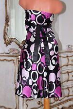 S1  NEW LOOK shiny faux satin bias cut tie back dress size 14