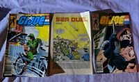 G.I. Joe A Real American Hero Lot Issues Comics #44, 47, 48, Marvel 1986 Readers